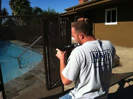 Fencing around your pool is an essential part of childproofing your home. (Photo courtesy of Angie's List member Donald L.)