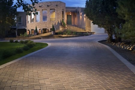 Pavers offer a wide range of design possibilities for driveways, says Starr. (Photo by Go Pavers)