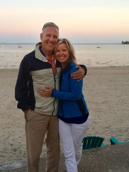 Ken and Mary Jezioro standing on the beach
