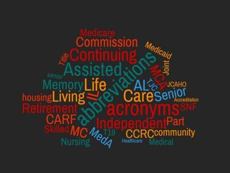 senior living abbreviations