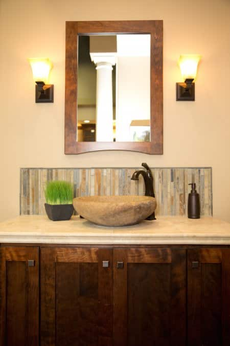Bathroom Vanity Countertop Sink Cabinet (Photo By Brandon Smith)