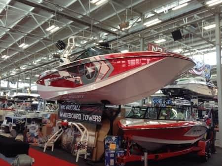 shiny red boat