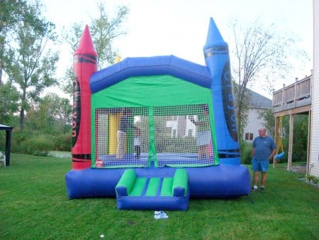 bounce house for kids' birthday party