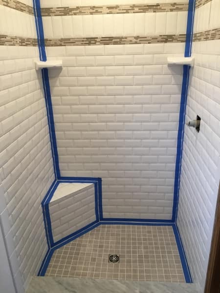 Shower stall - replacing latex caulk with silicone