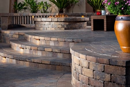 Beau Paver Steps And Fire Pit