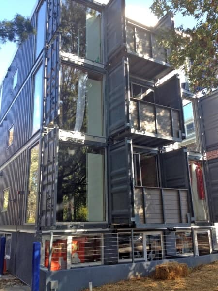 D.C. shipping container apartment houses (Photo by Jason Hargraves)