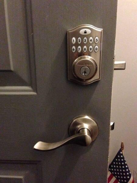 keypad and deadbolt lock for steel entry door