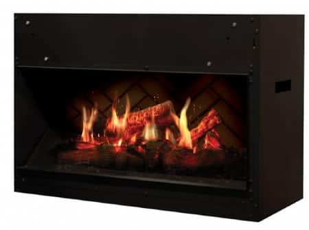 Linear modern electric fireplace