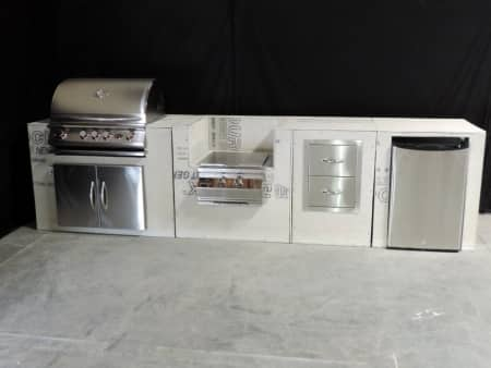 outdoor kitchen designs are spicing up angie s list Outside Modular Kitchen Modular Outdoor Kitchen Frame Kits