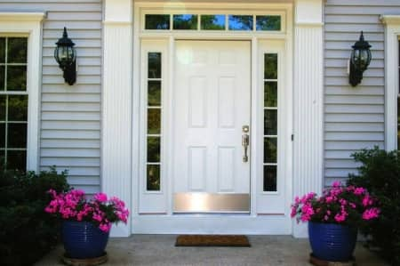 fiberglass front door with sidelights & How Much Does It Cost to Install a New Front Door? | Angie\u0027s List Pezcame.Com