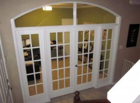 French Doors With Glass Panels Sidelights In Home Office