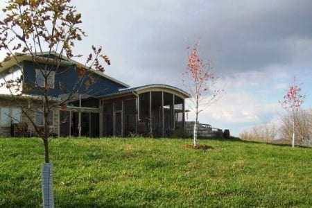 This house was custom built into the side of a hill with a geothermal system. (Photo courtesy of Angie's List member Suzan E. of West Branch, Iowa)