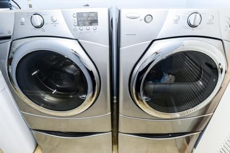 brand new washer and dryer chrome finish