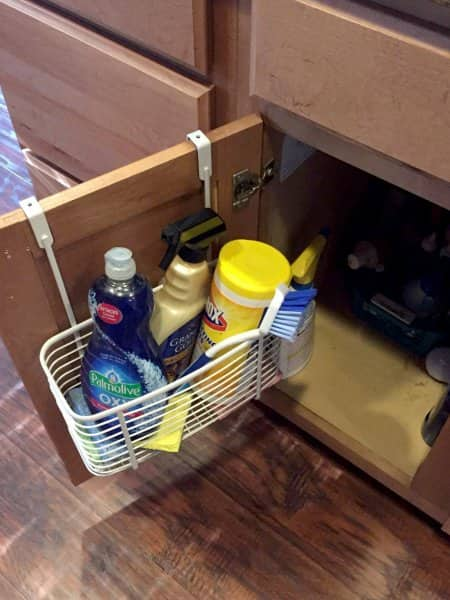 kitchen cabinet door basket