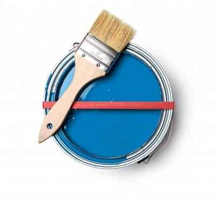 paint can with paint brush (Photo by Brandon Smith)