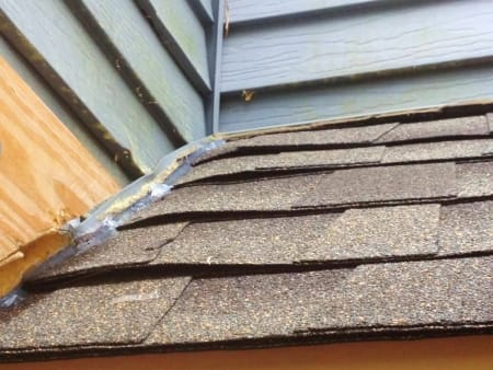 Parts Of A Roof Showing Bad Roofing Work