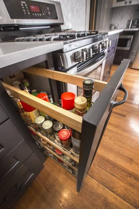 pull out spice rack (Photo by Frank Espich)