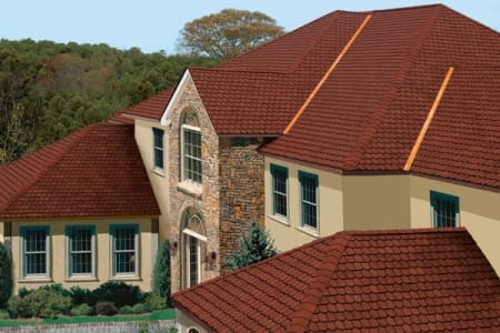 new roof red tile on residential roof