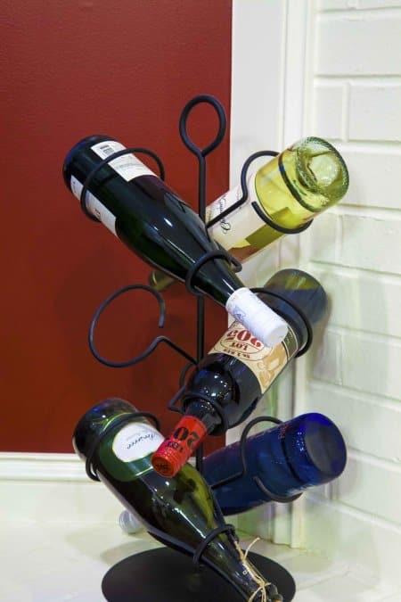Wine rack with wine bottles (Photo by Katelin Kinney)