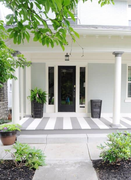 How To Paint Stripes On Your Front Porch Floor Angie S List