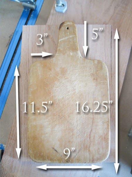 cutting board template
