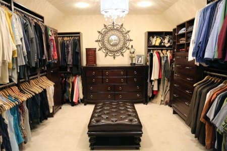 Organized Walk In Closet