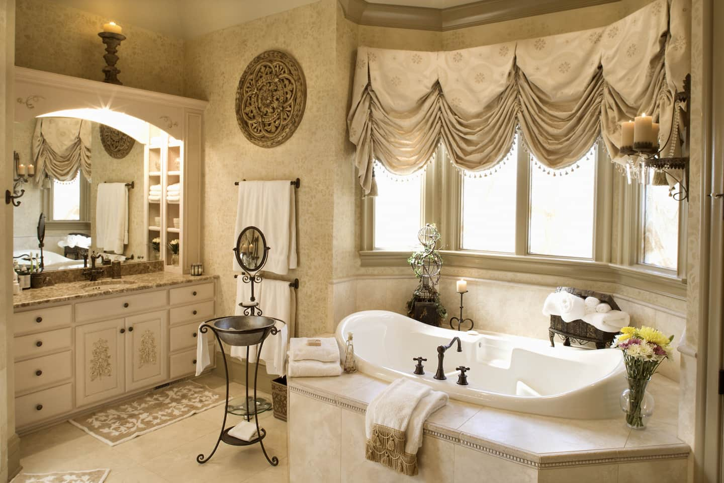 12 sensational bathroom cabinet design ideas angie s list a luxury bathroom with built in cabinets