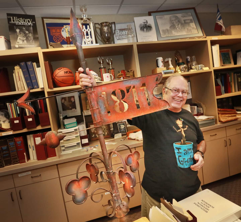 Bob Gillett with the Beech Grove Historical Society