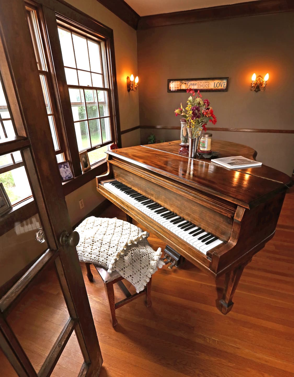 A piano in a home