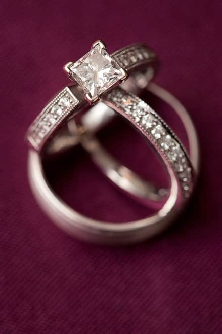 The road to finding the perfect engagement ring begins with finding a reputable and knowledgable jeweler. (Photo by ©Bungalow Photography)