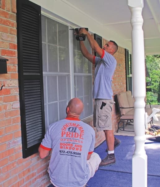 Owner Tom Herold installs custom windows and doors for clients. (Photo courtesy of Southern Pride Openings)