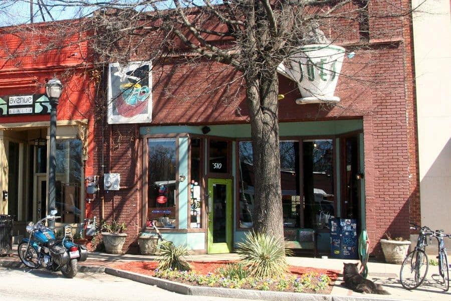 Joe's Cafe is a popular gathering spot at East Atlanta Village (Photo by Corinna Underwood).