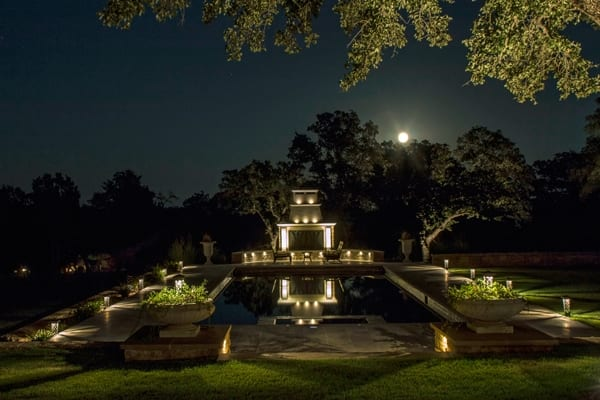 Outdoor lighting becomes a work of art in your landscape when properly designed and installed. (Photo courtesy of NightScenes)