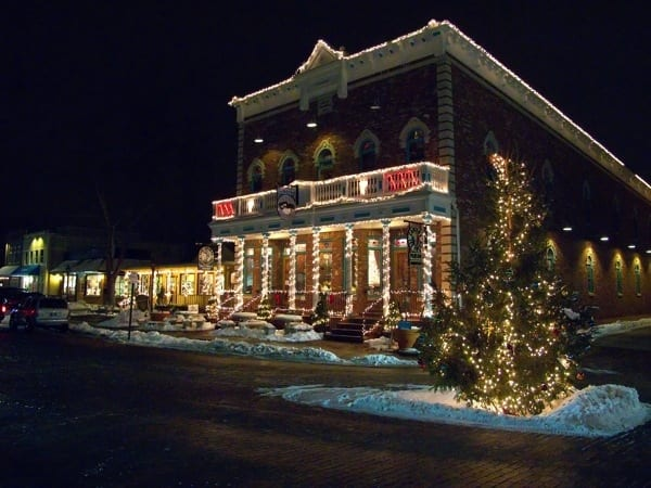 holiday lights in downtown Zionsville (Photo by )