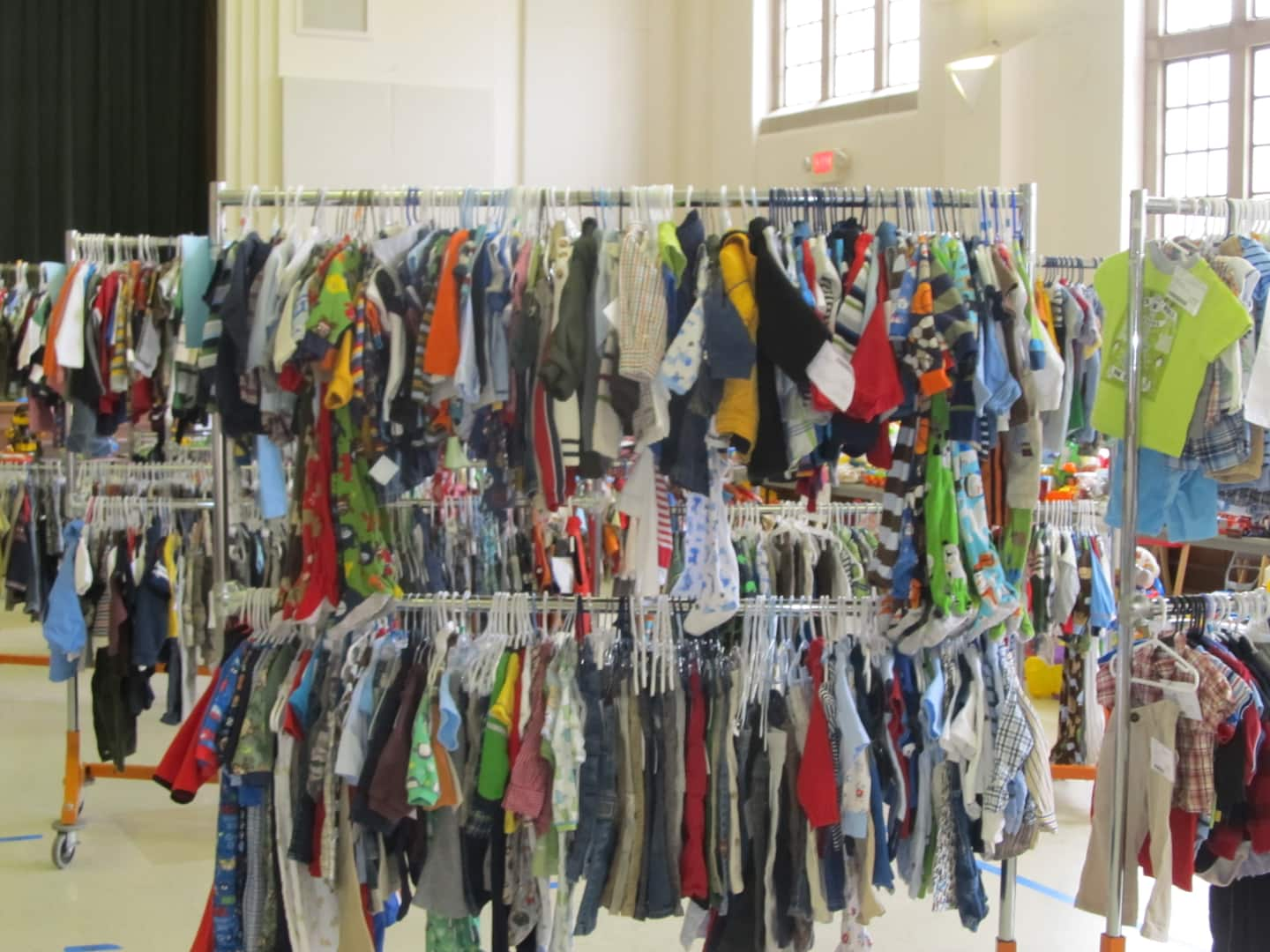 Consignment sales can offer bargains for shoppers looking for children's clothing, toys, books and more. (Photo by Courtney St. Onge)