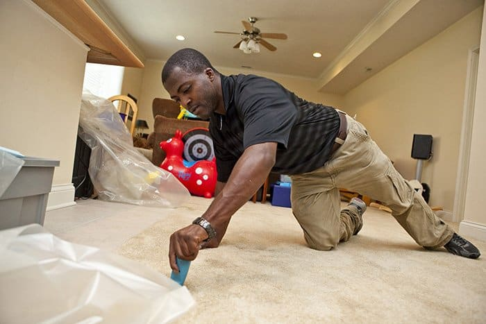 cleaning and restoration specialists help restore home after disaster