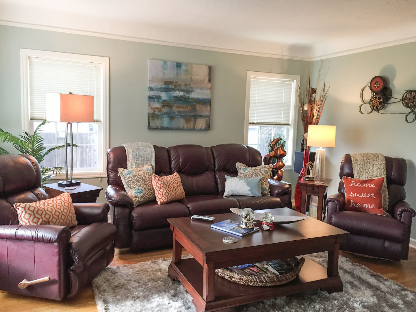 An eclectic living room scene