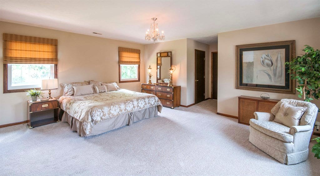 master bedroom with large open space