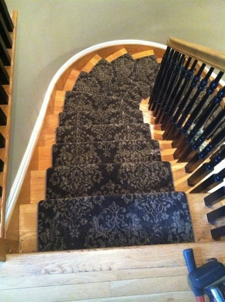 The homeowner had her carpets cleaned, stretched and a stair runner installed. (Photo courtesy of Angie's List member Danielle R. of Weehawken, N.J.)