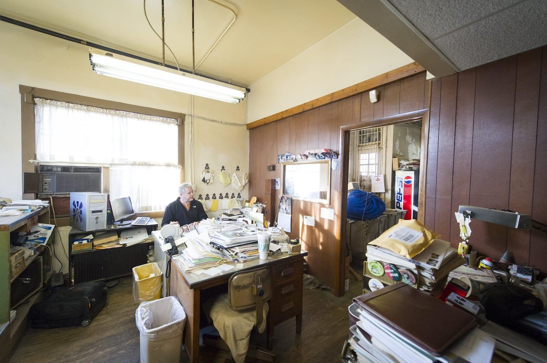 Scott Underwood working at his desk