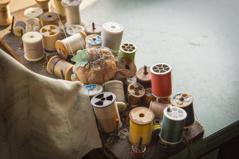 Old rolls of thread