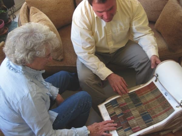 Tony Cuquet meets clients in their homes to discuss furniture upholstery and refinishing options. (Photo courtesy of Tony Darryl Upholstery)