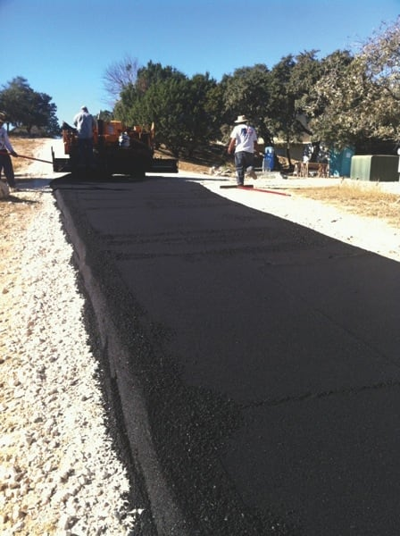 San Antonio homeowners and businesses hire Luke's Asphalt Paving to cover driveways and parking lots. (Photo courtesy of Luke's Asphalt Paving)