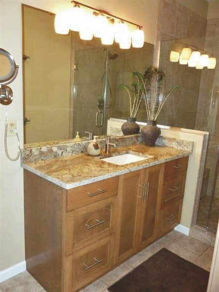 Klein had the new vanity made by a local carpenter. (Photo courtesy of Nicole Klein)