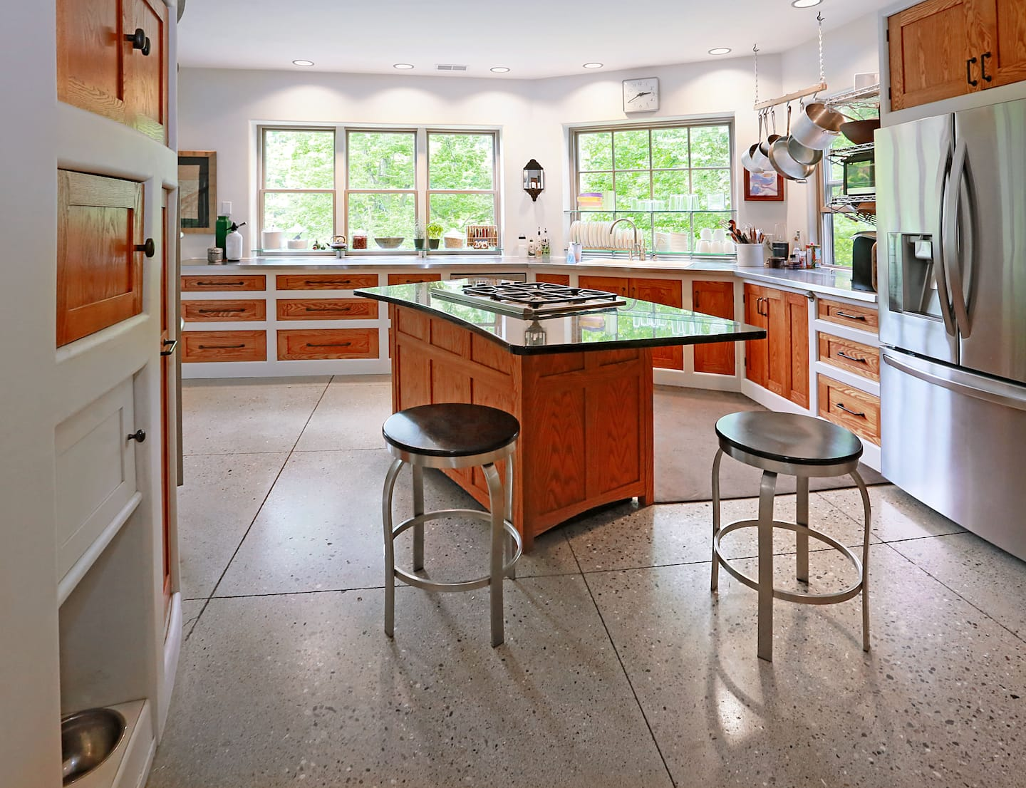 heated concrete kitchen flooring