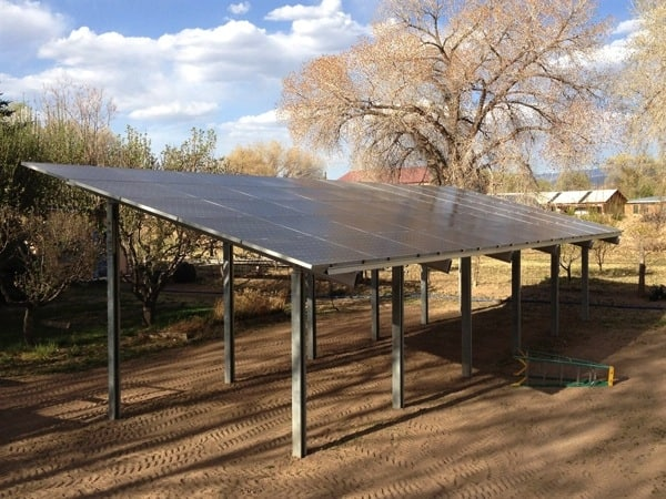 Angie's List member David Rich hired Positive Energy Solar to install 50 solar panels in his backyard. (Photo courtesy of Rich)