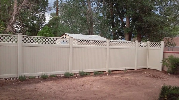 Michael Montoya Fencing & Handyman services installed 72 feet of fence for $850. (Photo courtesy of Angie's List member Brian M. of Albuquerque)