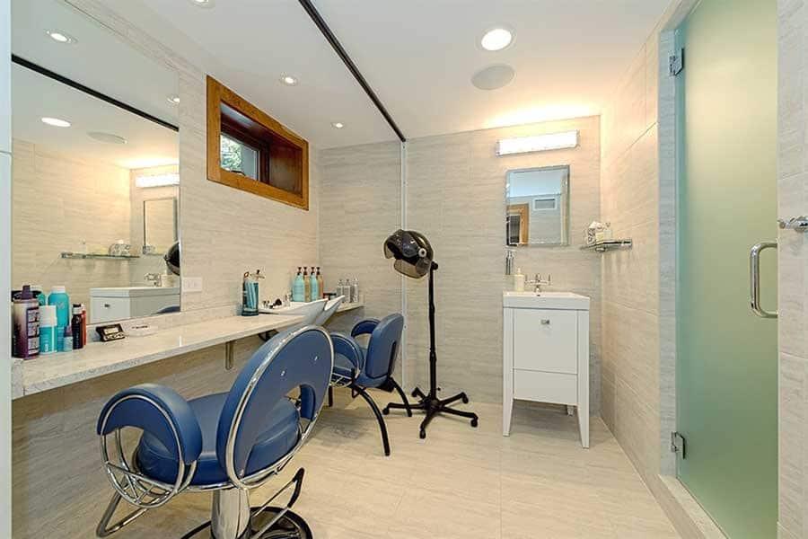 basement hair salon