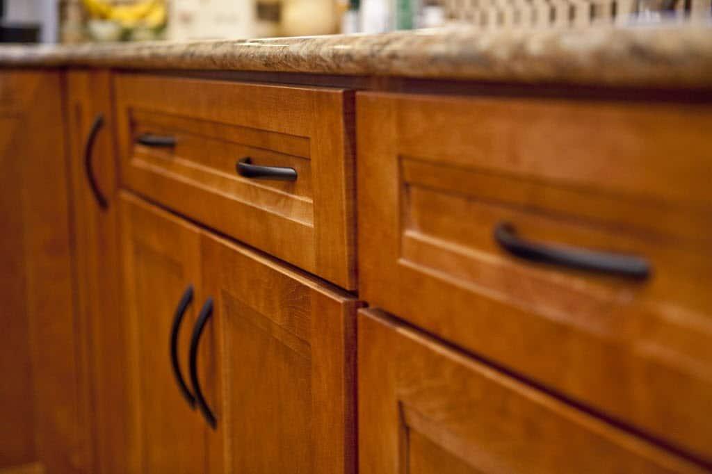 Bronze half moon kitchen cabinet door handles