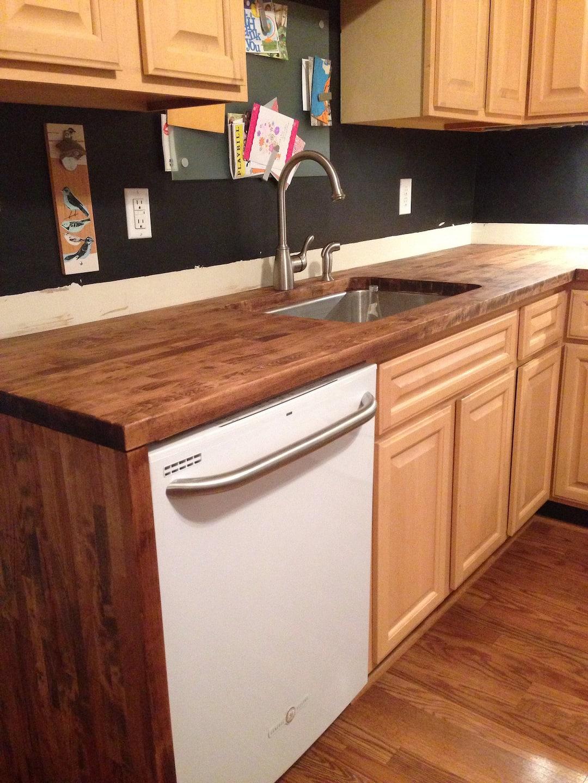 butcher block countertops angie 39 s list. Black Bedroom Furniture Sets. Home Design Ideas